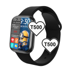 Mobile Phones T500 Smartwatch Heart Rate Blood Pressure Blood Oxygen Monitor Blue Tooth Call Smart Watch T500 For Android Mobile Phones
