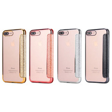 Luxus leder transparent TPU telefon fall für iPhone 11 pro max mit halter