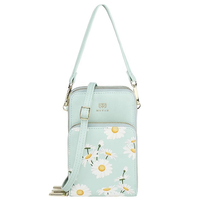 MIYIN 2021 hot selling Small daisies phone crossbody bag bolsos mujer mini women shoulder bag purses and handbags women bags