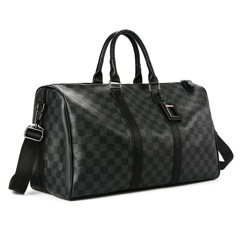 Fashion Gym Bag Travel Tote Handbags Outdoor Weekender Shoulder Luggage Waterproof Sports PU Leather Custom Duffel Bags For Men