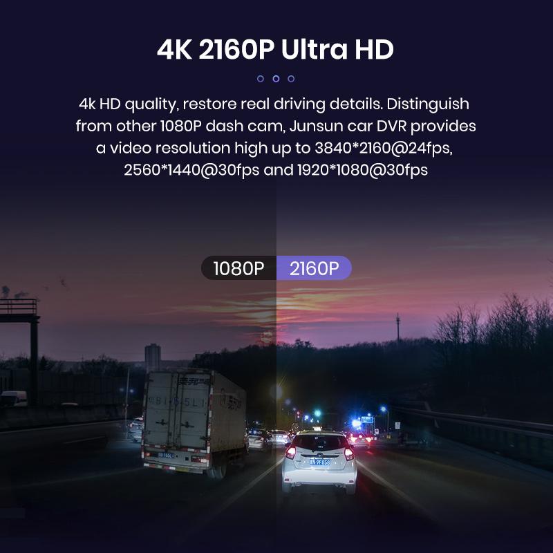 WiFi GPS 4K 3840*2160P 30FPS Sony IMX 323 магнитный держатель ADAS жест Фото Автомобильный видеорегистратор DVR камера Регистратор