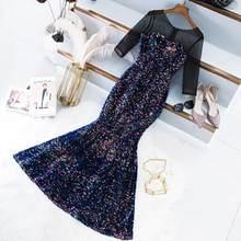 Темно-синие короткие платья для выпускного вечера с блестящими блестками Vestidos De Gala 2020 женское коктейльное платье Вечерние Выпускные платья...(Китай)
