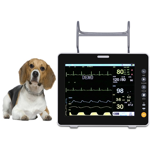 Pet Clinic Medical Equipments Monitor Patients Vet Multi-parameter Veterinary Patient Monitor