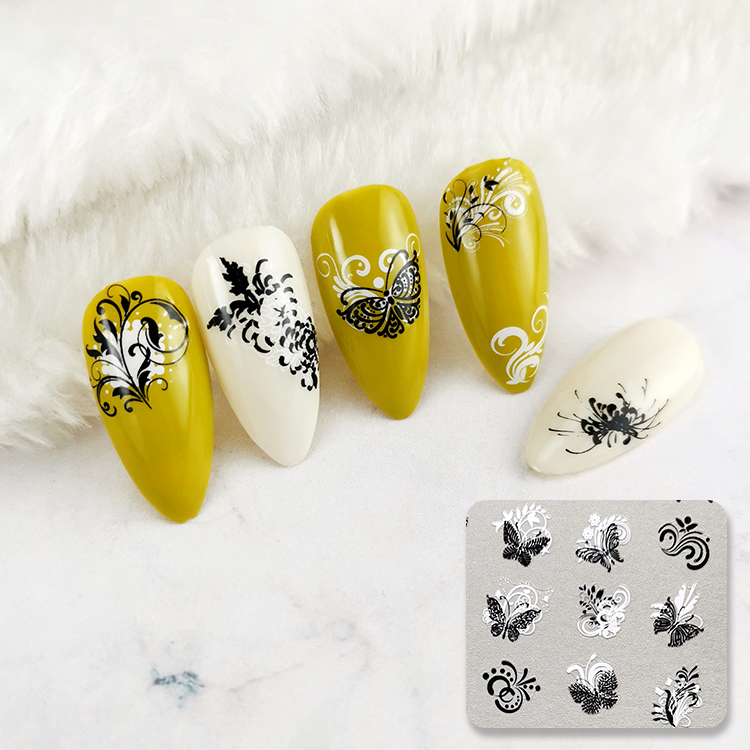 Chinese Supplier GMPC Factory Tiebeauty Brand 3D nail art sticker Customize packaging and designs
