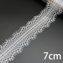 (3 м/лот) белая кружевная ткань для шитья ресниц, лента для одежды, свадебное платье, материал занавеса(Китай)