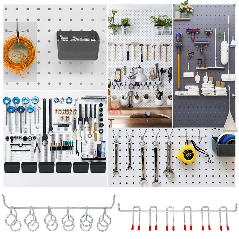 Крючок-органайзер для пегборда, набор аксессуаров, вешалка для хранения инструментов, оптовая продажа, тяжелые крючки для пегборда, ассортимент крючков