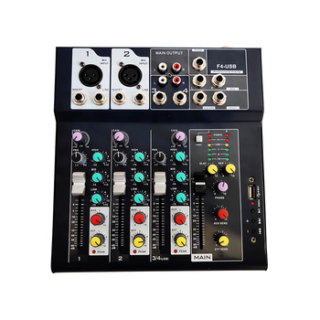 High quality professional digital audio mixer with amplifier mixer USB function