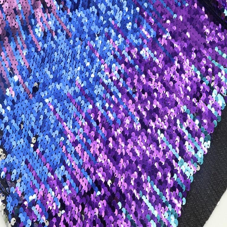 Оптовая продажа, уникальная двухцветная блестящая волшебная ткань с блестками