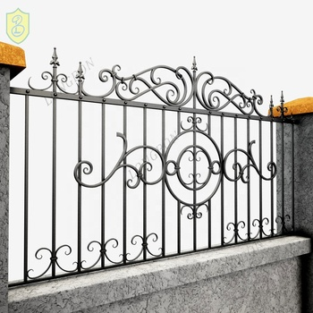 Powder Coated Frame Finishing and Fencing, Trellis & Gates Type wrought iron ornamental fence