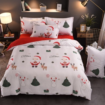 Super Soft Comfortable 3D Digital Printed Christmas quilting Silk Cotton Fabric For Bedding