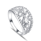 Ring Cz Heart Ring Lovely Silver Finger Ring Design Clear CZ Stone Heart Cut Fashion Women Wedding Ring Jewelry