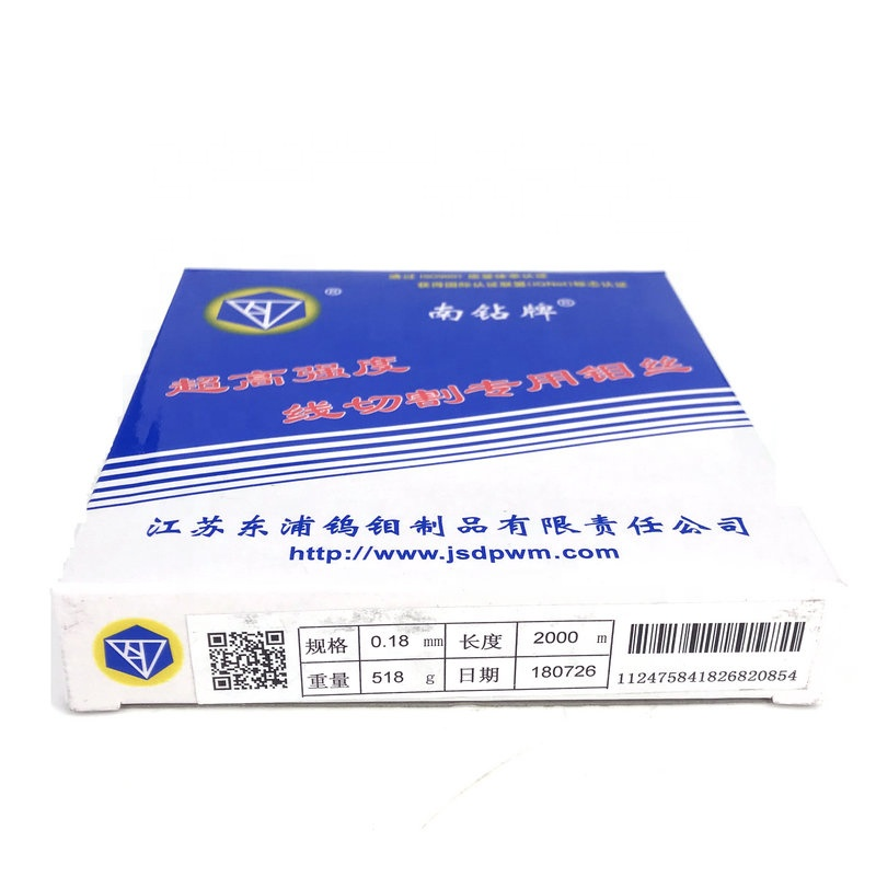 Diamond 0.18mm WEDM Molybdenum Wire 2000 Meter per Box for CNC Wire Cut WEDM Machine