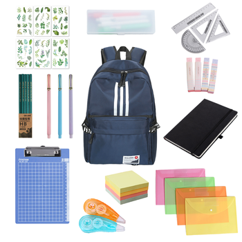 Подростков рюкзак Набор Подарочный набор большой емкости пенал канцелярские товары для школы и офиса студент