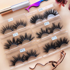lashes3d wholesale vendor 25mm eyelashes 25mm 3d mink eyelash with eyelash box packaging