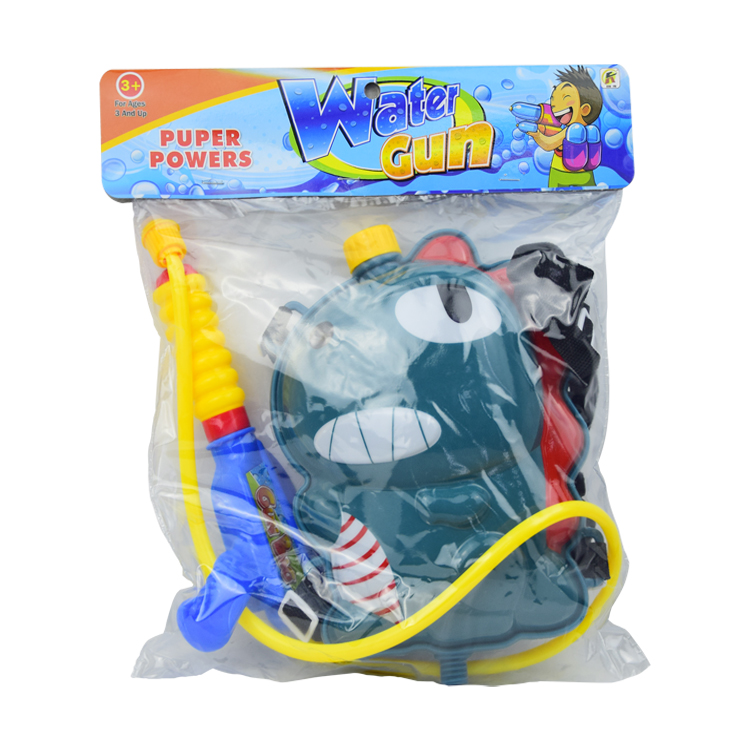 summer toy beach pumping toy cartoon funny backpack with water gun