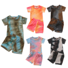 Clothes Baby Boy Toddler Girl Clothes Kid Short Sets Baby Boy Clothes Tie-dye Kids Clothing Brand Name Baby Summer Clothes Cotton Tank Top