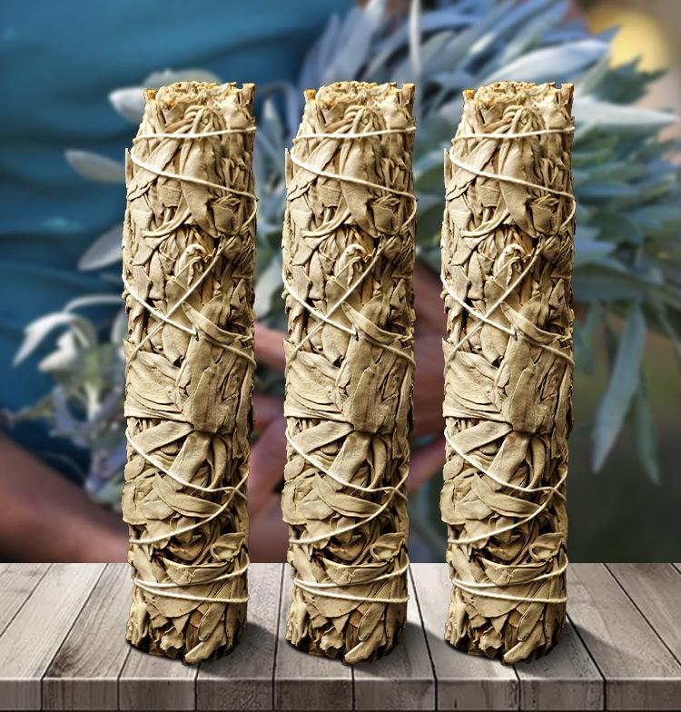 Wholesale 80g Californian incense dried leaf leaves bundles kits large White sage smudge sticks