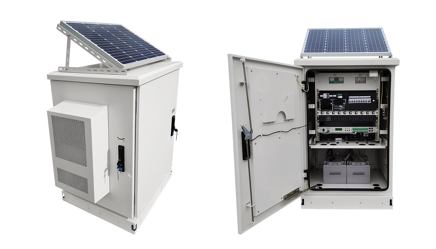 Customized IP65 Waterproof Lithium Battery Telecom Outdoor New Power Solar Cabinets