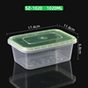 SZ-1020 Clear base green lid