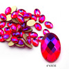 9# 4*6mm Oval Red AB