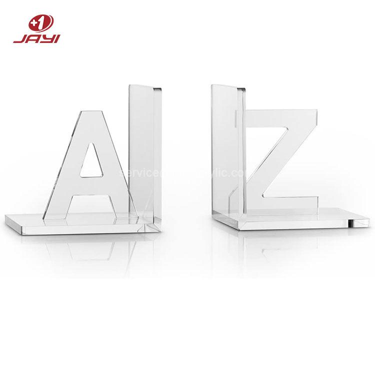 JAYI заказной размер Perspex Прозрачный Роскошный Кристалл акриловые закладки A до Z для рабочего стола офиса