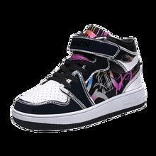 2020 новые стильные детские кроссовки с высоким берцем для мальчиков, Детская Баскетбольная обувь, Нескользящие уличные спортивные ботильон...(Китай)