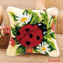 Набор для вышивания ковров в виде птицы, подходит для Foamiran, наборы для цветочных крючков, набор для рукоделия с подушкой на крючке, сделай са...(Китай)