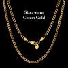 4mm Gold Lobster Clasp Cuban Chain