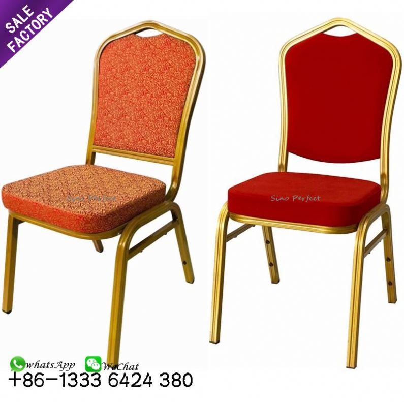 Wholesale modern furniture stackable metal hotel wedding hall banquet chairs for event