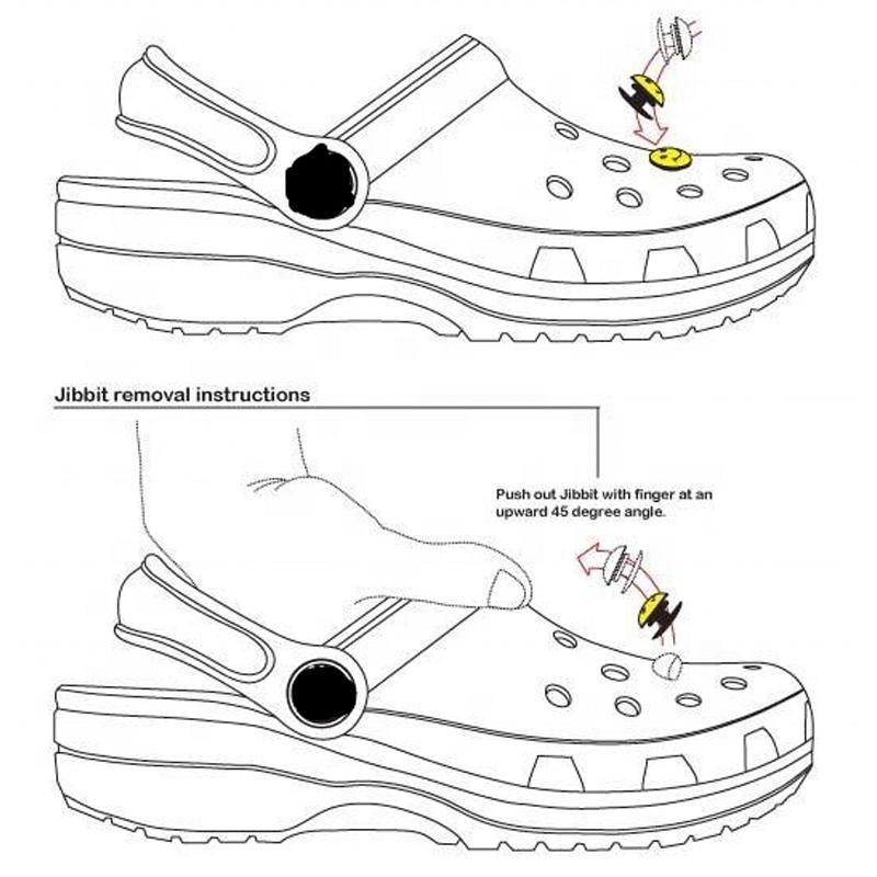 Wholesale Custom PVC Shoe Charms Shoe Buckle for Croc Clog Shoe Jibbitz