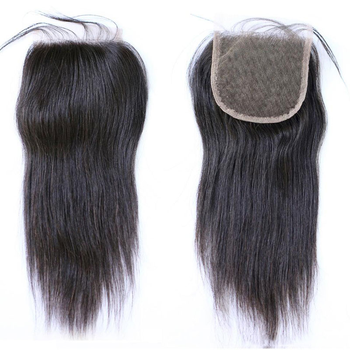 Pure Handmade 4x4 13X4 Lace Closure Frontal With Baby Hair, Brazilian Straight Human Virgin Hair Closure With Bundles Set Deals