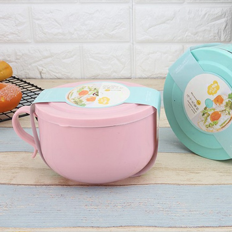 Stainless Steel snack cup with the handle and spoon personalized food containers storage kid bento lunch box Macaron cup