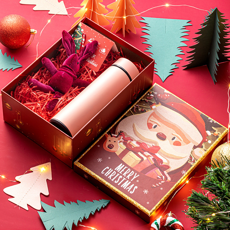 Various specifications custom rigid christmas eve lid and base cardboard box for speaker scarf thermos pack