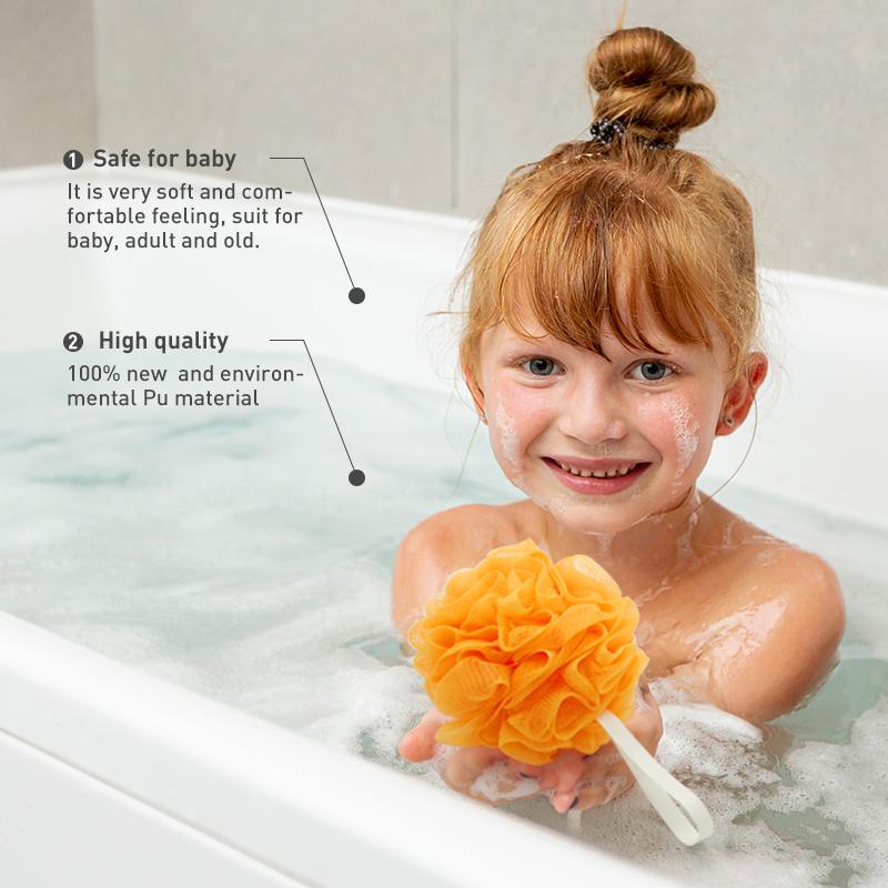 Customized Colorful Bath Sponge Exfoliating Eco Reusable Shower Loofah