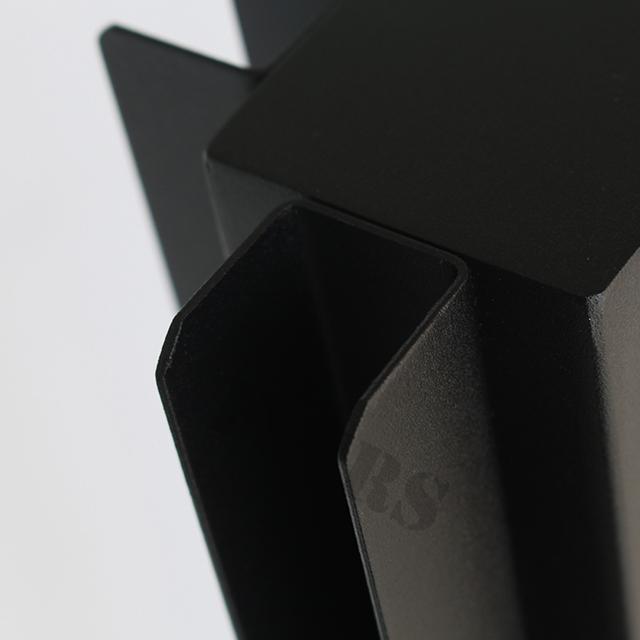 Трубчатые балясины из нержавеющей стали с порошковым покрытием черного цвета для балкона и лестницы