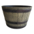 High Quality Hot Selling Garden Outdoor Round Plastic Big Size Flower Pot Whiskey Barrel Planters