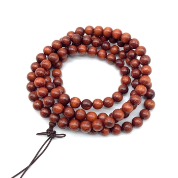 Natural Sandal Wood Rosary Wooden Beads Smooth Round 8 mm Good For DIY Yoga Bracelet Chakra Jewelry
