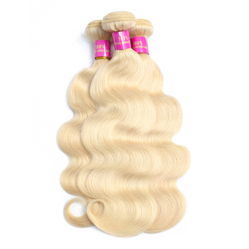 Wholesale cheap raw vigin hair 613 blonde malaysian human hair weave hair bundles