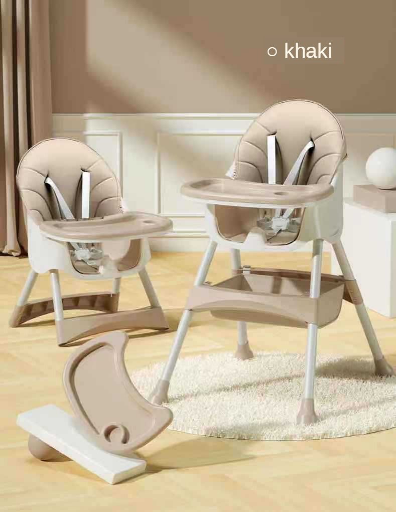 Folding Booster seat 3 in 1 high chair adjustable baby travel feeding eating desk and dinning chair multifunction