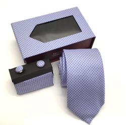 Men's tie gift box three-piece suit wedding tie cufflinks square scarf set