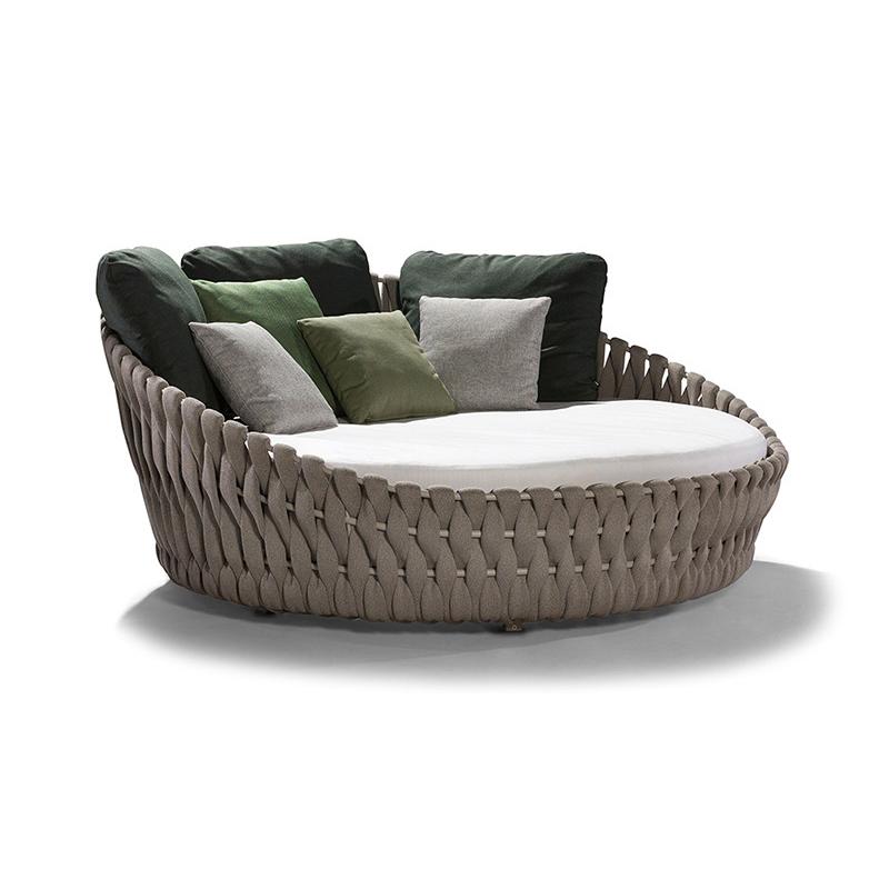 Садовая мебель Ratan, большая кушетка, уличная круглая уличная мебель