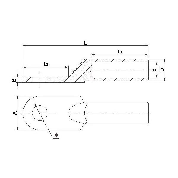 DG-BG Тип подключения выступ для алюминиевые стали проводник