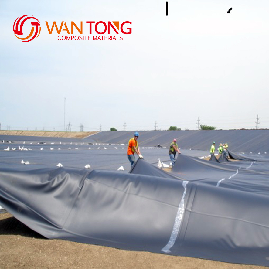 0.5mm ASTM HDPE geomembrane sheet for fish shrimp pond liner fish farming