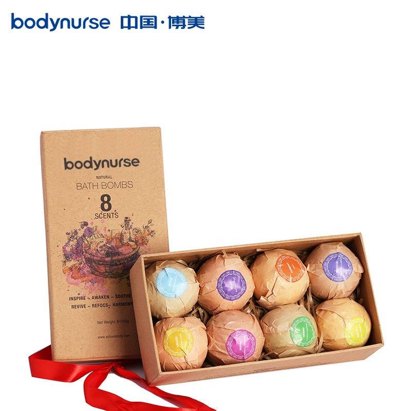 Oem все натуральные эфирные масла Ванна Spa Подарочный набор с 5 шт. золотых бомбочек для ванны