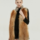 Fur Vest Red Fox Fur Mink Fur Hot Selling Good Quality Women's Fox Fur Mink Vest
