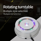 Shop 23CM LED 3D Photo Shop Display Turntable 360 Rotating Base Stand Turn Table