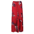 Chiffon Chiffonchiffon Long Ladies Skirt Hit Style Large Stock Tulle For Women Summer Casual Floral Pattern Chiffon Skirt