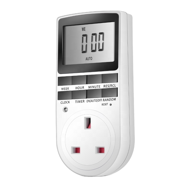 UK 12/24 Stunden LCD Digital Electronic Plug-in Programmier bare Timer-Schalter buchse AU/EU/UK