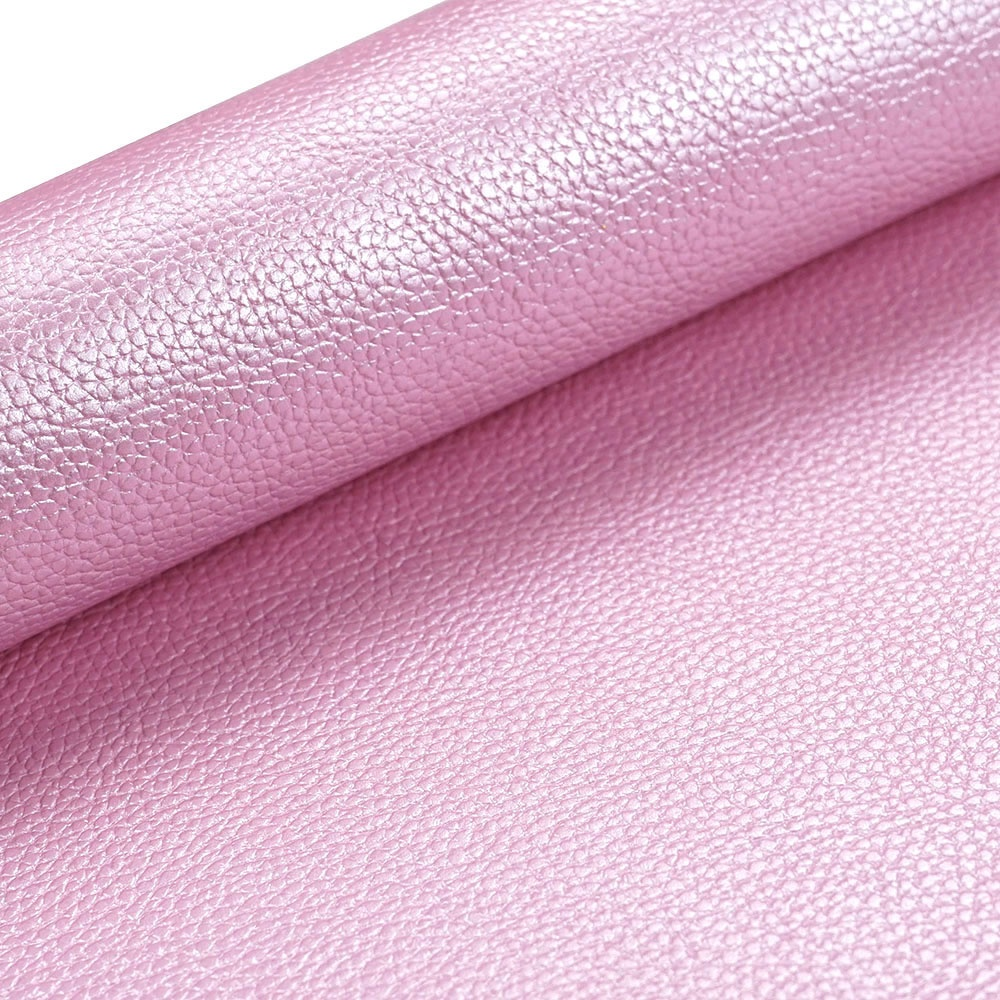Pearl Brightness Metallic surface Faux Leather for Fabric Sheet Cotton Back PU leather for Earrings Bags Shoes Making