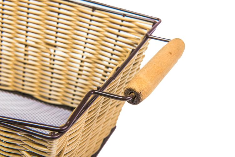 Fashion Handmade Flower Basket Bicycle Front Wicker Basket Vintage Wholesale Western OEM